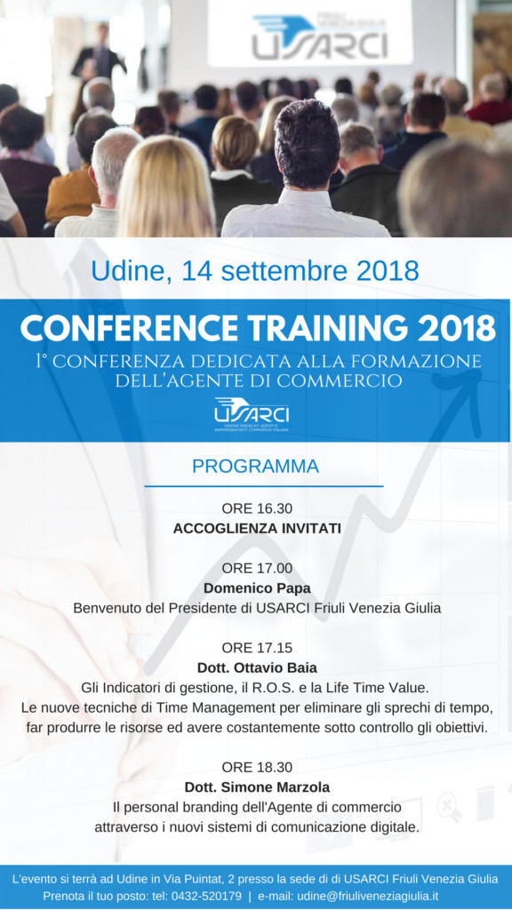 CONFERENCE TRAINING 2018 USARCI UDINE